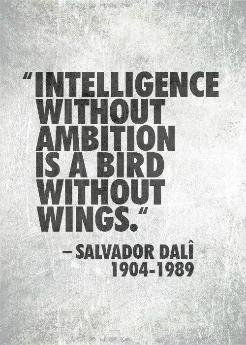 Intelligence without Ambition